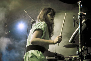 Sarah Jones and her Roland set up