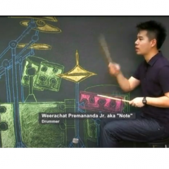 Thai chalk air drummer