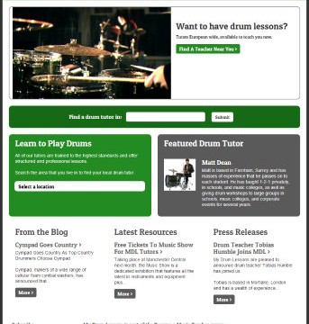 Drum Lessons Website