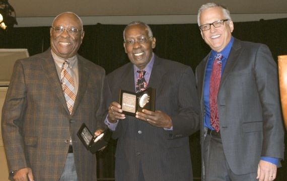 YAMAHA HONORS FUNKY DRUMMERS STARKS AND STUBBLEFIELD  AT 2013 WISCONSIN STATE MUSIC CONFERENCE