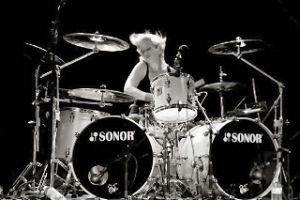 Gemma Hill playing drums