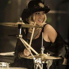 3RDEYEDGIRL drummer Hannah Ford