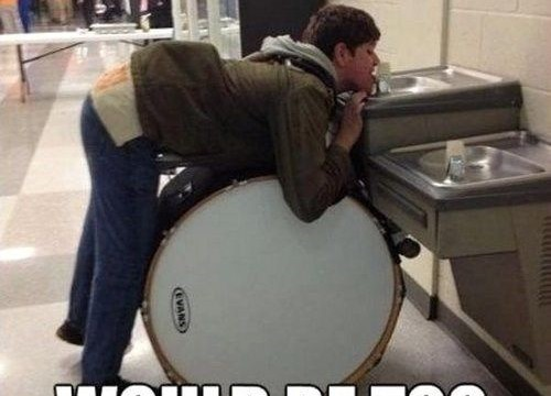 Drummers sometimes make mistakes!