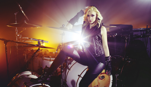 Girl Drummer With Balls