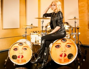 Female Drummer Does It For Prince