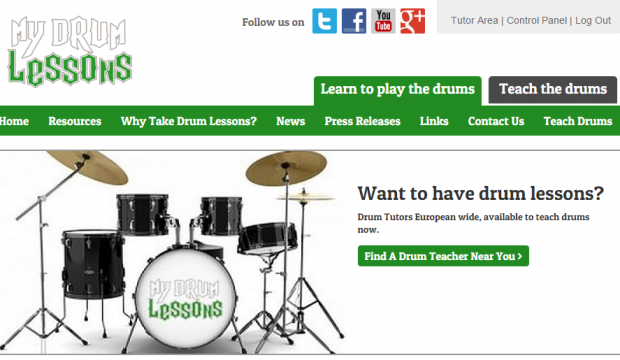 My Drum Lessons Website Now Responsive