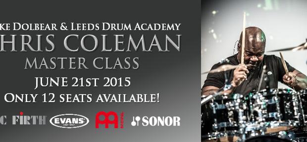 Drummer Chris Coleman Master Class In Leeds 2015.