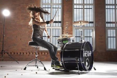 Female drummer training