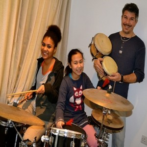 Michele teaches adult drum lessons