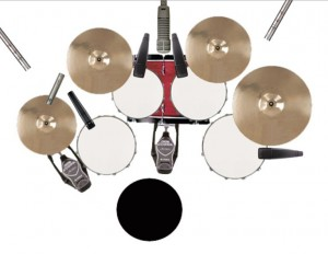 A diagram of a typical multi-miked drumkit