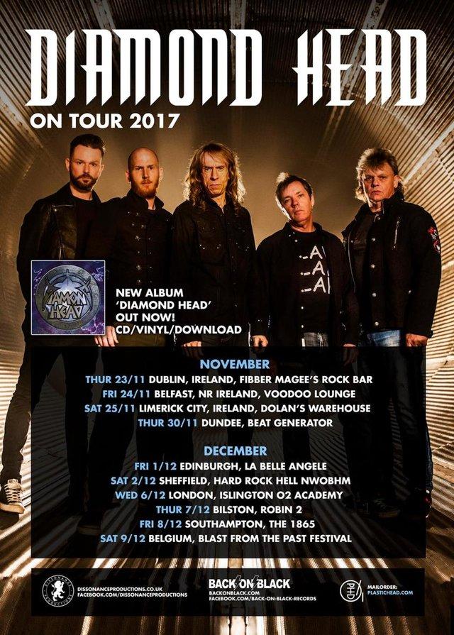 Diamond Head Announce Dates My Drum Lessons