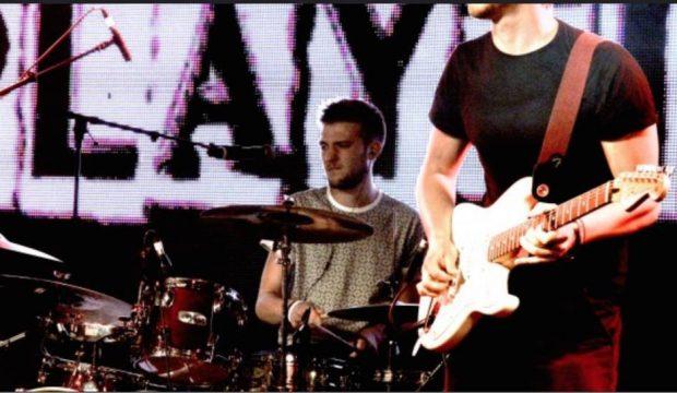 Ben playing drums