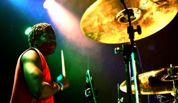 Ayo Salawu drumming at ACM