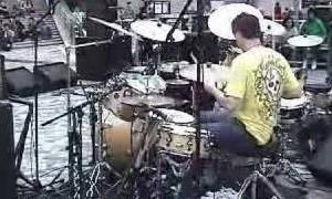Jon plays live drums